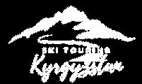 Kyrgyzstan ski touring logo white retina